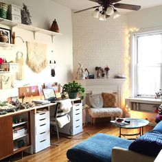"""""""Able Ground is a one woman bizness and this one room serves as biz + life HQ. This is where everything gets photographed, where I have solo dance parties,…"""""""