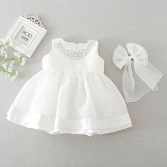 Baby Girl Dress Christening Baptism Gowns Sequined Formal Dress White – Christen My Day Baby Girl Baptism, Baptism Dress, Christening Gowns, Baby Girls, Baby Girl Christening Dress, Kids Girls, The Dress, Baby Dress, Dresses Kids Girl
