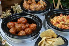 Make game day a little easier and delight your tailgate guests with Slow Cooker Bourbon Whiskey Meatballs. Best Slow Cooker, Crock Pot Slow Cooker, Crock Pot Cooking, Slow Cooker Recipes, Crockpot Recipes, Cooking Recipes, Recipes Appetizers And Snacks, Finger Food Appetizers, Yummy Appetizers