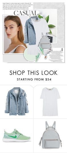 """""""#Casual"""" by aane1aa ❤ liked on Polyvore featuring American Vintage, NIKE and Fendi"""