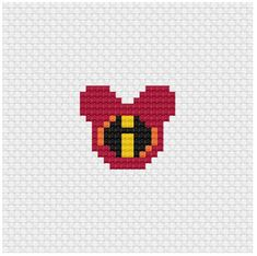 Perler Beads, Perler Bead Art, Fuse Beads, Perler Bead Templates, Perler Patterns, Beaded Cross Stitch, Cross Stitch Embroidery, Disney Mouse Ears, Mickey Ears