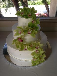 Gorgeous wedding cake by Some Crust Bakery.
