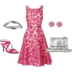 Pink Blossoms, created by lislyn.polyvore.com