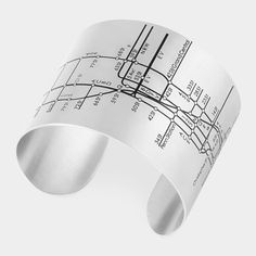 Love this NYC Metro Cuff. Subway lines to wear on your wrist. A conversation-starting accessory.