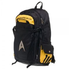 02bf9c02b5f New Star Trek Captain s Command LOGO LAPTOP Black Yellow Backpack BOOKBAG