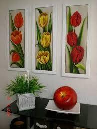 Resultado de imagen para pintura em tela flores Tulip Painting, Acrylic Painting Flowers, Acrylic Painting Canvas, Acrylic Art, Fabric Painting, Diy Painting, Simple Flower Drawing, Flower Art, 3 Canvas Paintings