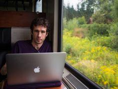 Digital Nomad Living: working on a train through Austria