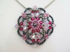My Daily Bead: Swarovski Crystal Pendant - Rose