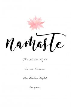 The Divine Light Poster Namaste Quotes, Namaste Art, Yoga Studio Design, Cute Small Tattoos, Tattoos For Women Small, Namaste Wallpaper, Yoga Inspiration, Edge Quotes, Yoga Symbole