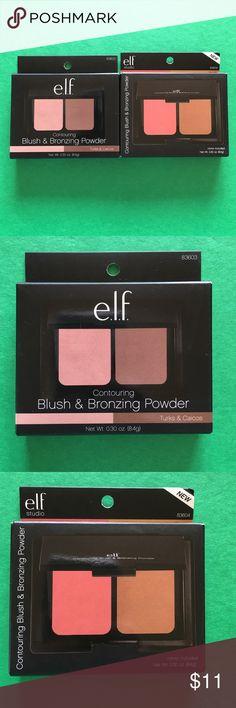 """e.l.f. Bronzer/Blush Duo Palettes """"Turks & Caicos"""" and """"Fiji-matte"""" e.l.f. Makeup Bronzer"""