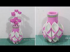 How to Make Foam Sheet to Flower Basket in Easy Way Paper Flower Vase, Paper Flowers Craft, Giant Paper Flowers, Flower Crafts, Foam Sheet Crafts, Foam Crafts, Canvas Crafts, Cd Crafts, Diy Arts And Crafts