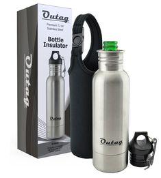 Beer Bottle Cooler | Stainless Steel Insulator | Best Beer Keeper With Bonus Insulated Bag And Bottle Opener | Ultimate Portable Beer Bottle Chiller & Bottle Koozie Holder