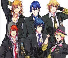 Uta no prince sama. There so cute XD I Love Anime, Awesome Anime, Me Me Me Anime, Anime Guys, Manga Boy, Manga Anime, Jinguji Ren, Otoya Ittoki, Kamigami No Asobi