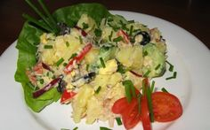 Salata orientala cu peste afumat Romanian Food, Healthy Salad Recipes, Potato Salad, Cookie Recipes, Good Food, Potatoes, Foods, Cookies, Ethnic Recipes