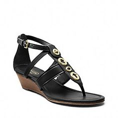 0c695c440f3b Shop the latest assortment of sandals and flip flops at Coach.com Low Wedge  Sandals