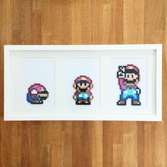 Mario from Super Mario World. Made with perler beads.