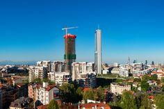 the skyscraper forms part of 'citylife', a vast development that includes buildings by daniel libeskind, arata isozaki and andrea maffei.