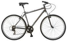 Schwinn Capital Men's Hybrid Bicycle, Medium frame size, grey in Sports & Outdoors & Outdoors > Outdoor Recreation > Cycling > Bikes > Hybrid Bikes Mountain Bikes For Sale, Best Mountain Bikes, Mountain Bike Shoes, Mountain Biking, Bmx Bikes, Cool Bikes, Road Bike Women, Commuter Bike, Bicycle Maintenance