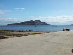 Holy Isle from Lamlash Bay on the Isle of Arran