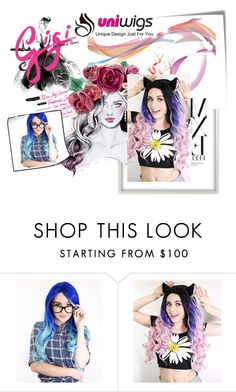 """Uniwigs"" by ado-duda ❤ liked on Polyvore featuring Post-It, women's clothing, women, female, woman, misses and juniors"