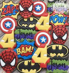 Superhero Birthday - Just Pin Avengers Birthday Cakes, Superhero Birthday Cake, Fourth Birthday, 6th Birthday Parties, Birthday Fun, Superhero Kids, Super Hero Birthday, Superhero Party Food, Birthday Ideas