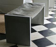 Concrete h-bench   Betonnen bankje