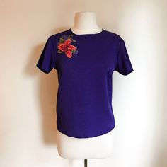 Purple Top / Floral Blouse / Clothing / Summer Top / Medium Blouse / Women's Clothing / Fall Fashion / Purple Blouse / Vintage Clothing by MarlaHomanCollection on Etsy https://www.etsy.com/ca/listing/498393918/purple-top-floral-blouse-clothing-summer