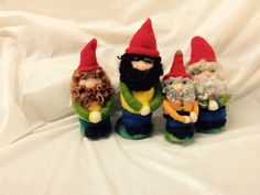 Needle felted Gnome class of feb. Wet And Dry, Gnomes, Needle Felting, Fiber Art, Bowser, Ontario, Art Projects, Canada, Japanese
