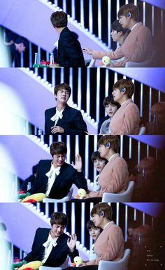 """jin: they cut my hair way too short! Seokjin, Hoseok, Namjoon, Jimin Jungkook, Bts Taehyung, Bts Bangtan Boy, Bts Jin, Otp, National Songs"
