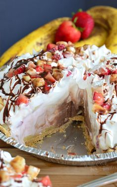 Banana Split Ice Cream Pie