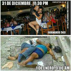 Realidad de fin de año...  #humor #2016 Funny Spanish Memes, Spanish Humor, Funny Memes, Hilarious, Mexican Birthday Meme, Mexican Jokes, Satirical Illustrations, Funny Prank Videos, Rap