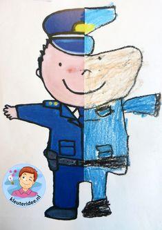 Preschool Art, Preschool Worksheets, Kindergarten Activities, Fun Police, Kids Police, Police Crafts, Helper Jobs, Fun Crafts, Crafts For Kids