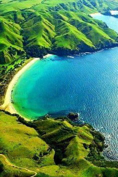 At Taupo Bay, New Zealand.