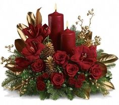 1000+ images about Christmas floral designs on Pinterest ...