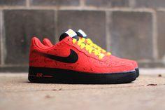 NIKE AIR FORCE 1 (UNIVERSITY RED PAISLEY) | Sneaker Freaker