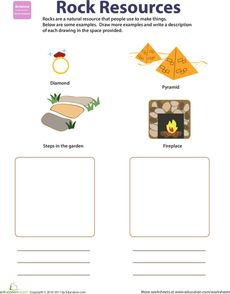 Natural Resources: Rocks Worksheet