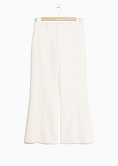 & Other Stories   Raw Edge Creased Trouser