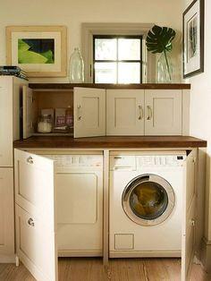 custom doors hide laundry | by The Estate of Things