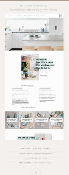 Site Showcase: Amazema Interiors — Squarespace Design Guild