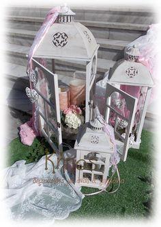 Στολισμός γάμου με φανάρια Bird Cage, Vintage Decor, Lanterns, Baby Strollers, Burlap, Rustic, Decoration, Children, House