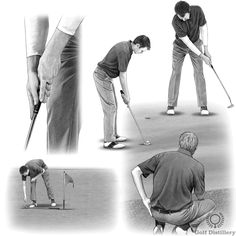 The putting tips and putting drills in this section cover good putting fundamentals such as alignment and stance, the putting stroke, the putting grip, reading greens and distance control. Golf Putting Tips, Putt Putt, Golf Lessons, Drills, Golf Tips, Distance, Game, Reading, Cover