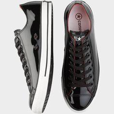 Converse Black Patent Tennis Shoes - Formal Shoes | Men's Wearhouse