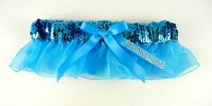 This Turquoise sequin Prom Garter is another garter perfect for the upcoming prom season!!