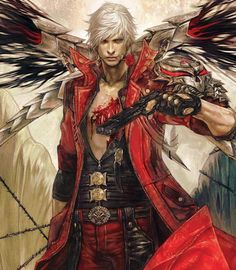 This incredibly detailed and beautifully drawn DMC4 Dante portrait is by artist Rae!