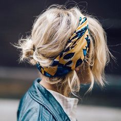 """105 Likes, 4 Comments - SHOP: Who What Wear (@shopwhowhatwear) on Instagram: """"@TropRouge shows off a fresh way to wear a silk scarf for spring, and we're into it.…"""""""