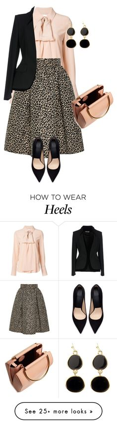 """""""outfit 7825"""" by natalyag on Polyvore featuring Chloé, Zara, Adele Marie, Tom Ford and Roksanda"""