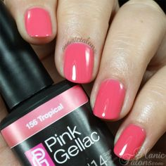 Pink Gellac Gel Polish Tropical