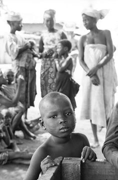 Yoruba child with facial scarification, Oshogbo, Nigeria