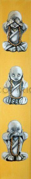 3, affen, anowi, buddha, hören, iwona, kampfkunst, kampfsport, kind, kinderposter, kinderzimmer, malerei, meditation, monk, mönch,  nichts, sagen, sdunek, sehen, shaolin, spa, tempel, wellness