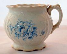 Antique Transferware Shaving Mug by Carrollton China circa 1800's